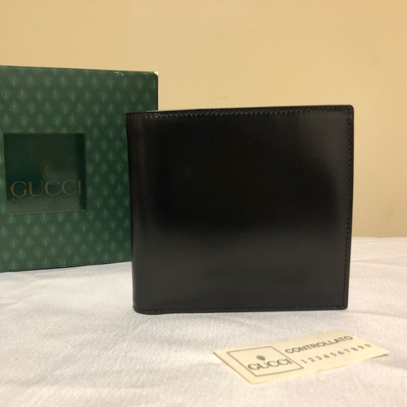 00f56dd1b93d1a Gucci Bags | New Mens Black Leather Bifold Italy Wallet | Poshmark